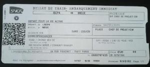 cv- billet de train