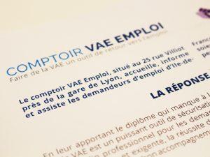 Photo Comptoir VAE Emploi